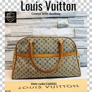 Louis Vuitton Satchel bag marie navy blue Monogram
